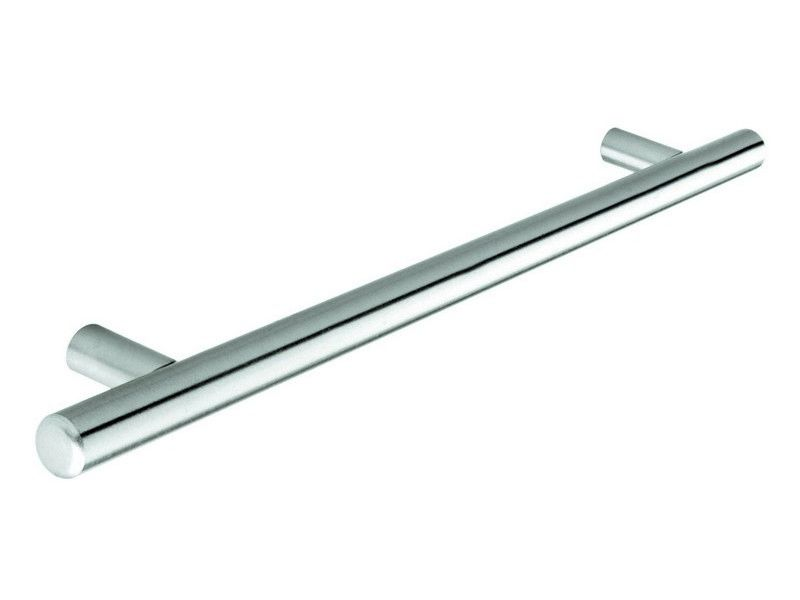 Bar handle, 12mm diameter, 737mm long, steel, stainless steel effect - Bar Handles
