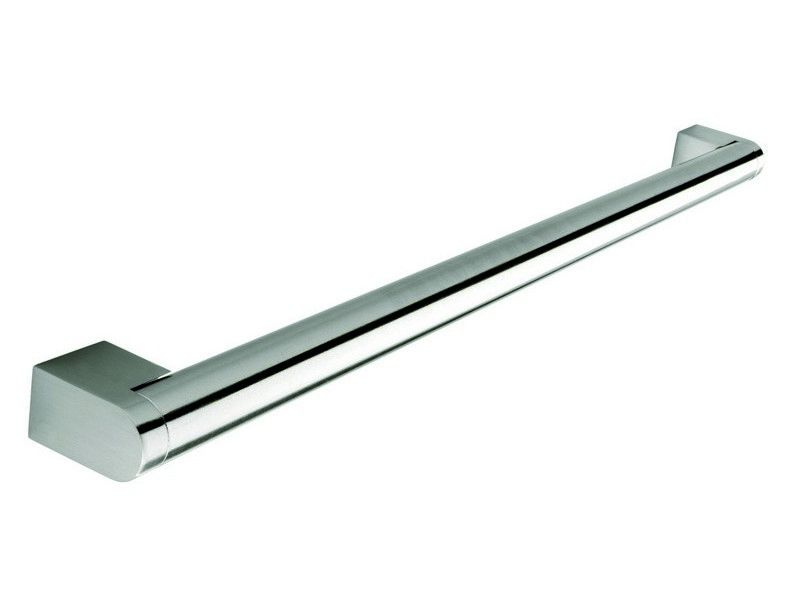 Boss bar handle, 22mm diameter, 1185mm long, steel, stainless steel effect - Boss Bar Handles