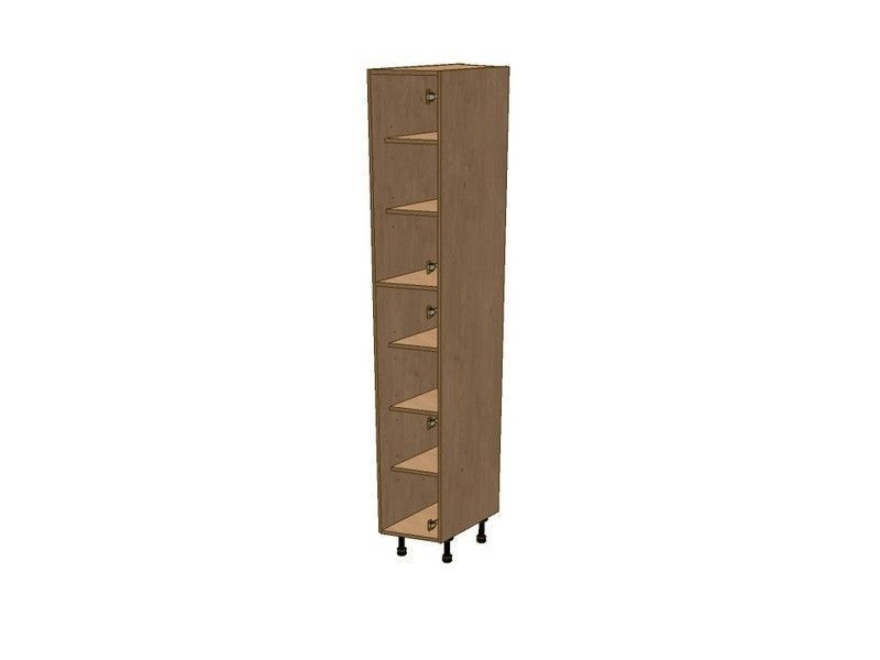 Fitzroy Paint To Order 275mm Angled Larder Unit RH 2150mm High 296 Doors