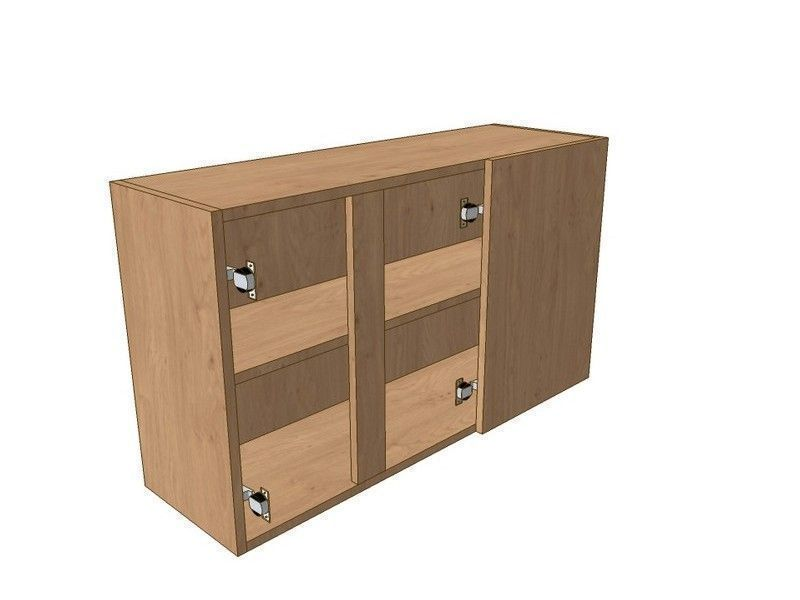 Noto True Handleless 1200mm Corner Wall Unit 2 Door 400mm RH Blank 575mm High