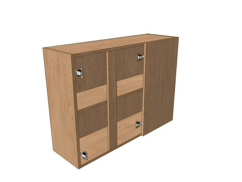 Noto 900mm Corner Wall Unit 2 Door 300mm RH Blank 720mm High