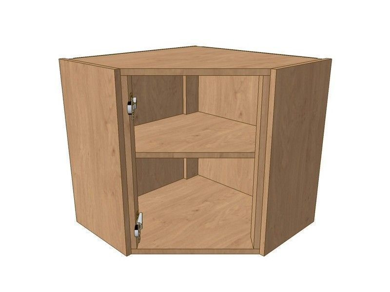 Noto True Handleless 600mm*600mm Angled Corner Wall Unit 575mm High