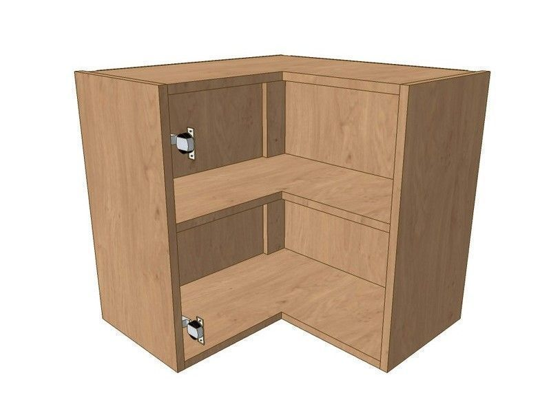 Fitzroy Paint To Order 620mm*620mm L Shaped Corner Wall Unit 575mm High