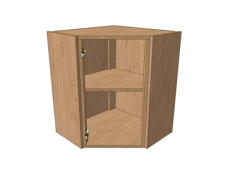 Fitzroy Paint To Order 600mm*600mm Angled Corner Wall Unit 720mm High -Suits Glzd Dr