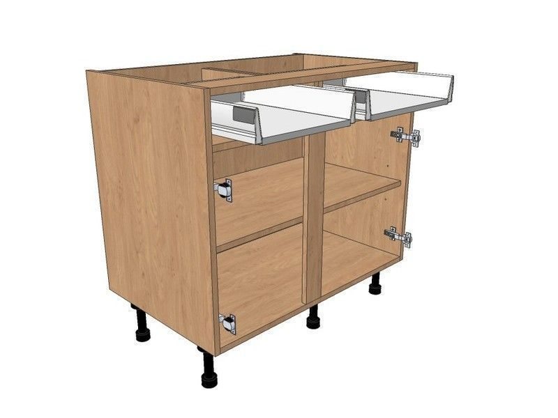 Fitzroy Paint To Order 1100mm Drawerline Base Unit To Suit 500mm LH & 600mm RH