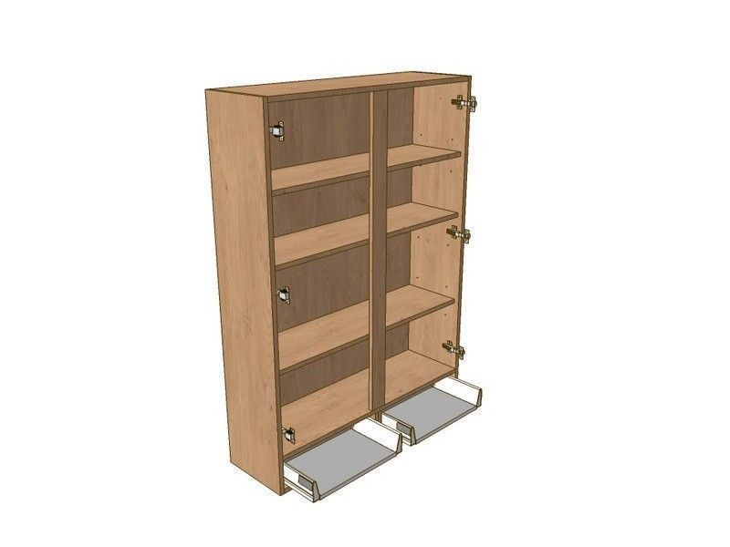 Noto 1000mm Dresser Unit 2 Drawer To Suit 900mm Wall Units