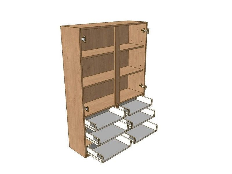 Noto 1000mm Dresser Unit 6 Drawer To Suit 900mm Wall Units
