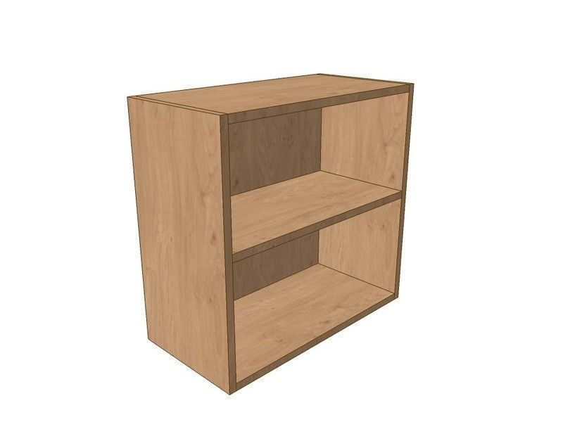 Noto True Handleless 800mm Open Wall Shelf Unit 575mm High