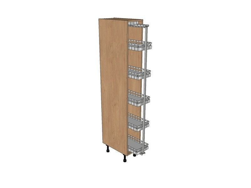 Noto True Handleless 300mm Pull Out Larder Unit With Arena Pull Out 1970mm High