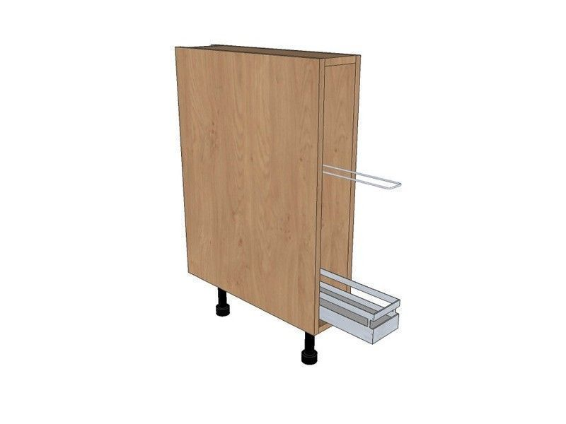 Noto True Handleless 150mm Tray Base Unit With Classic Tray Pull Out