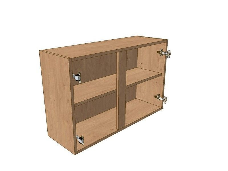 Noto True Handleless 900mm Wall Unit 575mm High 400mm LH & 500mm RH