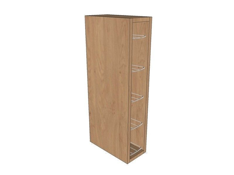 Fitzroy Paint To Order 150mm Wall Unit 720mm High With Chrome Wine Rack