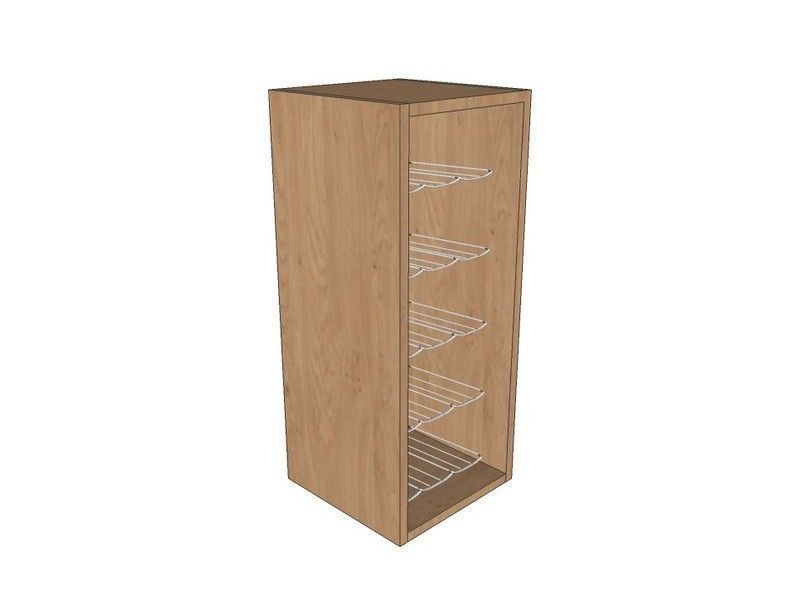 Noto 300mm Wall Unit 720mm High With Chrome Wine Rack