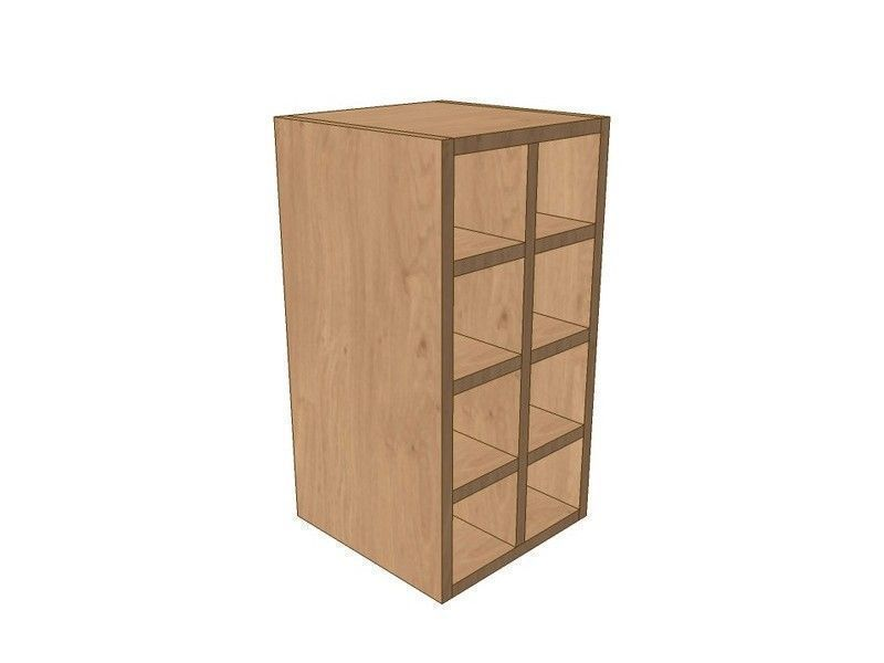 Noto True Handleless 300mm Wall Wine Rack Pigeon Hole Unit 575mm High