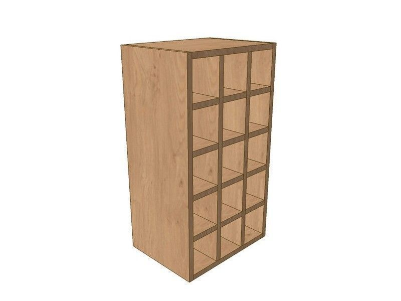 Noto 400mm Wall Wine Rack Pigeon Hole Unit 720mm High