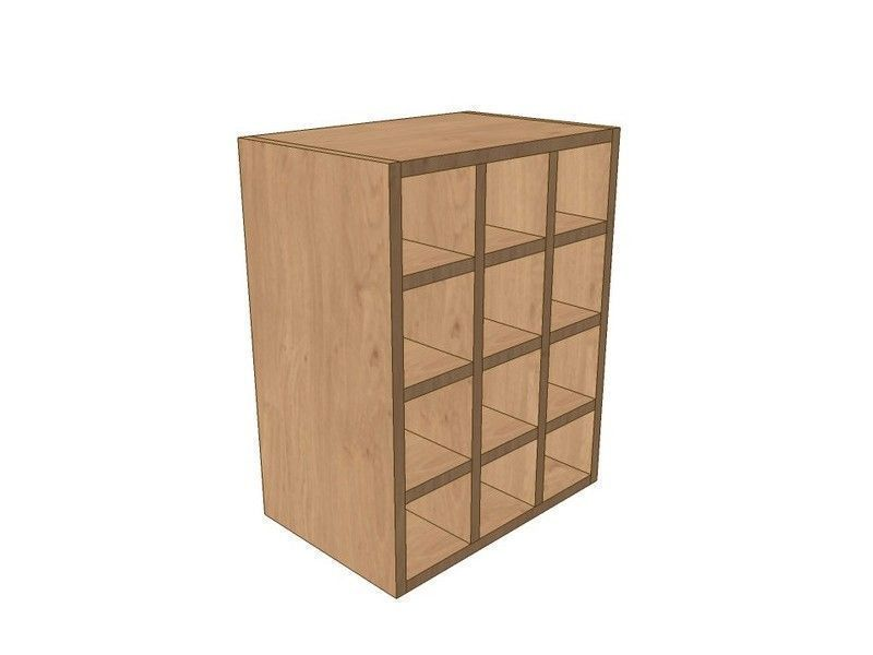 Noto True Handleless 450mm Wall Wine Rack Pigeon Hole Unit 575mm High