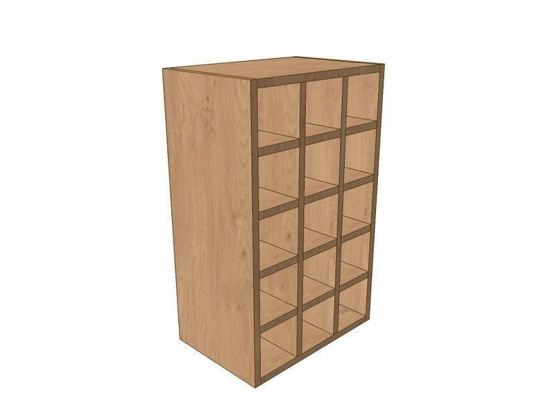 Noto 450mm Wall Wine Rack Pigeon Hole Unit 720mm High