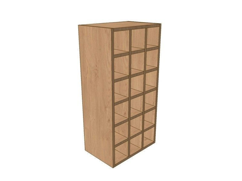 Milbourne Chalk 450mm Wall Wine Rack Pigeon Hole Unit 900mm High