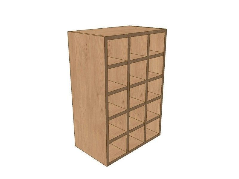 Fitzroy Paint To Order 500mm Wall Wine Rack Pigeon Hole Unit 720mm High