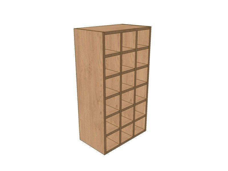 Milbourne Chalk 500mm Wall Wine Rack Pigeon Hole Unit 900mm High