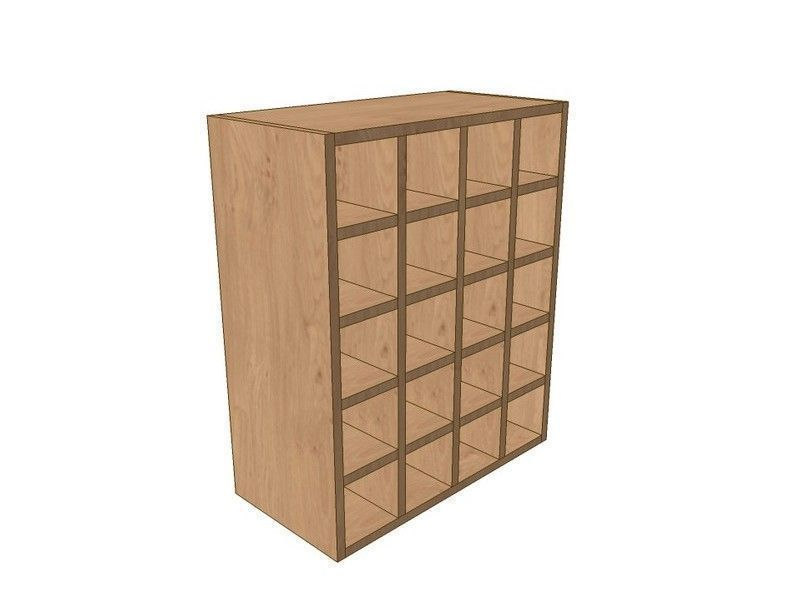 Fitzroy Paint To Order 600mm Wall Wine Rack Pigeon Hole Unit 720mm High