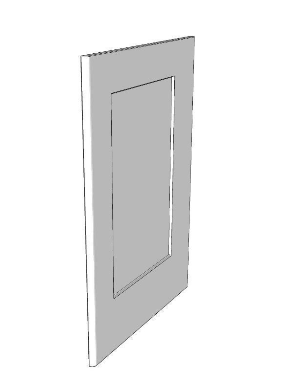 Fitzroy Paint To Order Base framed end panel, 895x605x18mm