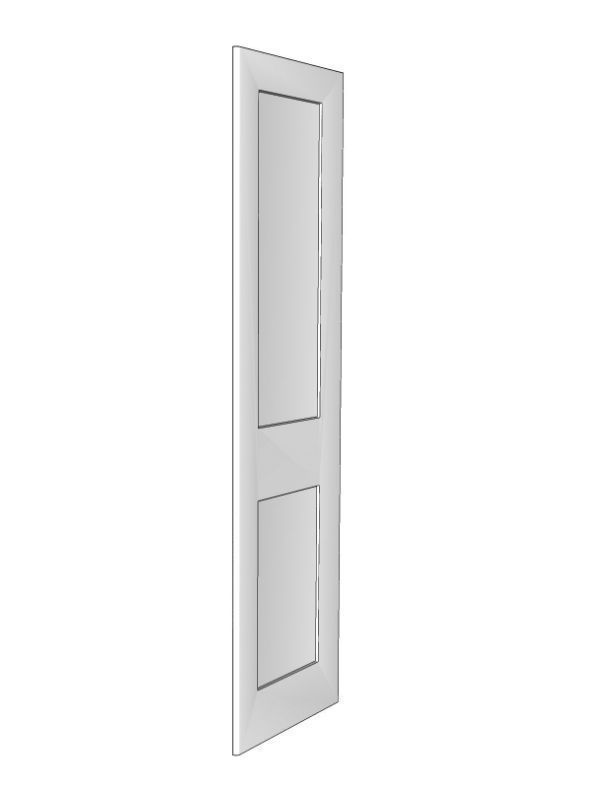 Fitzroy Paint To Order Appliance framed end panel, 2145x605x18mm, left hand