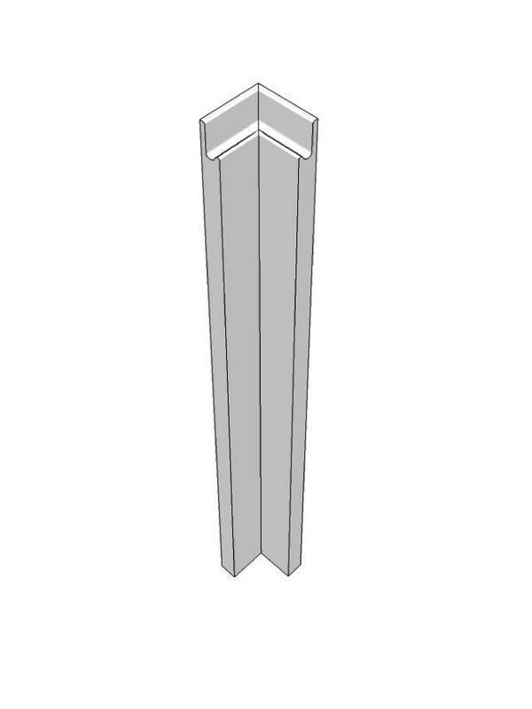 Remo Gloss Silver Grey Corner post base pre assembled 715x70x70