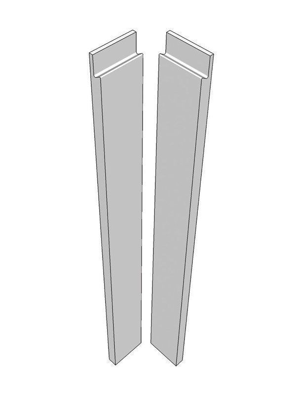 Remo Gloss Silver Grey Corner post, 715x70x22mm