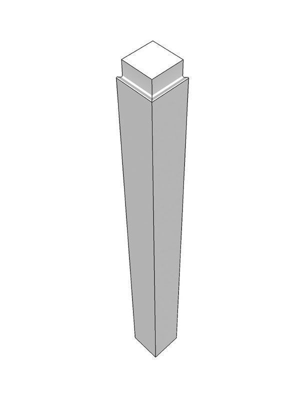 Remo Gloss Silver Grey External corner post, 900x75x75mm