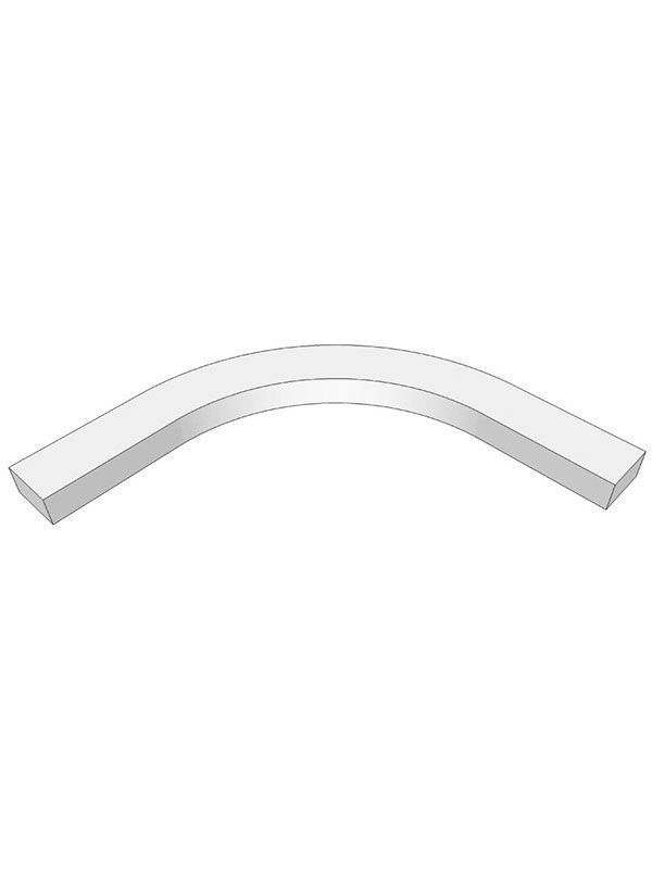 Remo Gloss Silver Grey Internal curved cornice section for 600mm wall unit