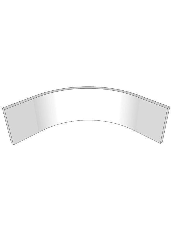 Remo Gloss Silver Grey Internal curved plinth section for 900mm base unit