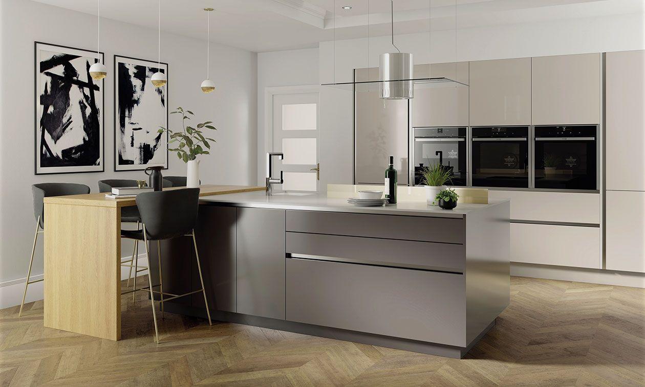 Noto 450mm Angled Larder Unit LH 1970mm High 496 Doors | DIY Kitchens 4 U