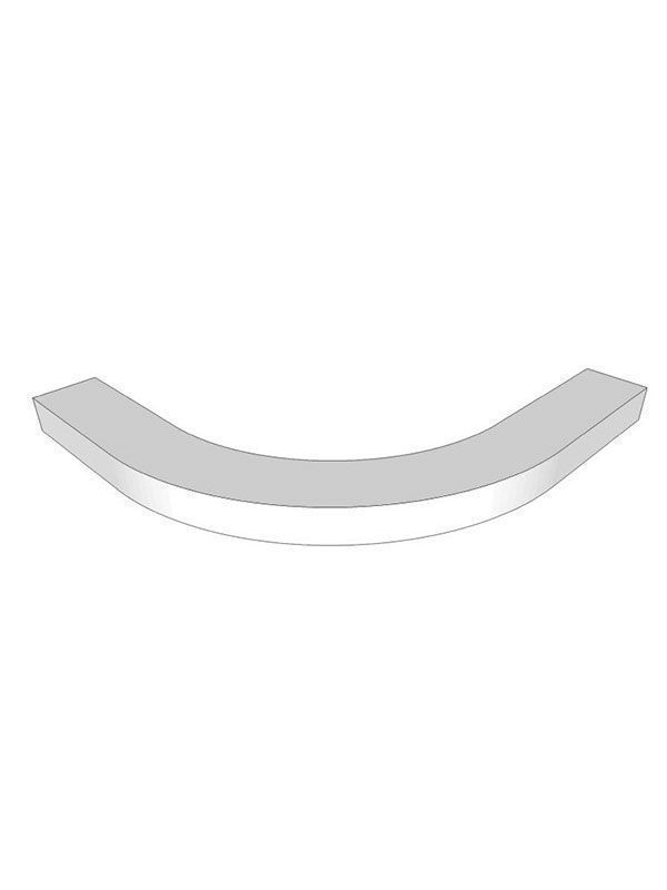 Remo Gloss Silver Grey Curved modern cornice use with small curved doors, 300mm unit