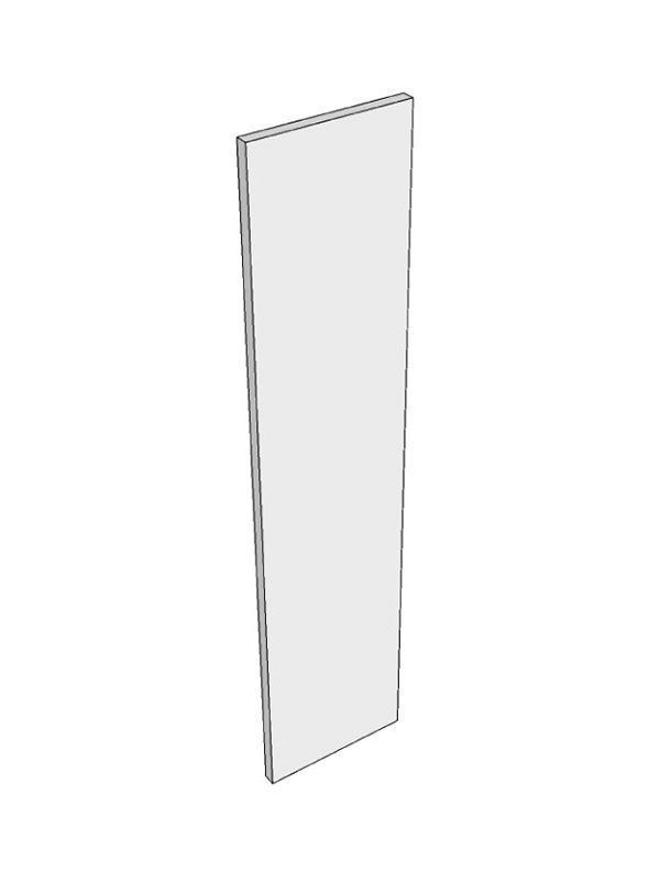 Remo Gloss Silver Grey Alternative Porter Gloss Tall end panel, 960x370x18mm